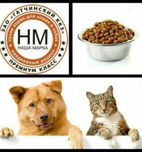 Сухой корм для кошек и собак