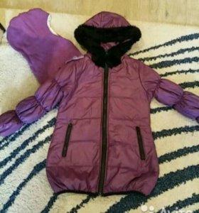 Зимние пальто бенитон + шлем