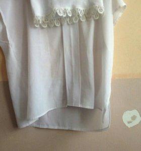 Блуза женская ворот кружево шелк