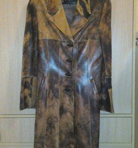 Кожанный плащ / кожанная куртка