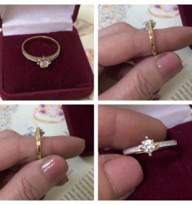🍃🌸Золотое кольцо, золото 585🍃🌸