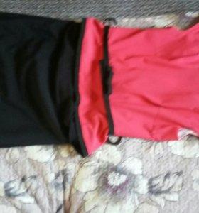 Юбка карандаш+блуза. Размер 44