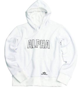 Толстовка Худи Alpha Industries Track White