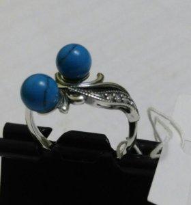 кольцо серебрянное р.17,5