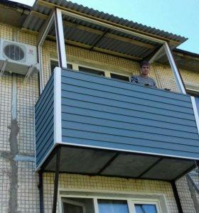 Установка окон, оконных блоков, отделка балконов