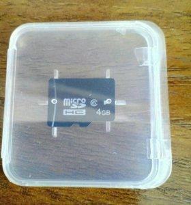 Карта Micro Sd 4 ГБ.