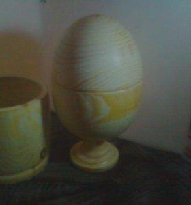Яйцо-деревянное-шкатулка