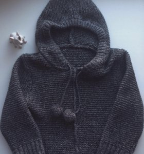 Кардиган вязанный с капюшоном