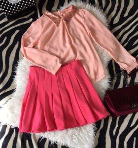 Нежная Розовая блуза