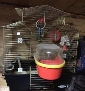 Большая клетка для попугайчиков