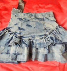 Новая джинсовая юбка oodji