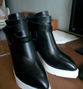 Туфли-ботильоны натуральная кожа