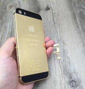 Корпус золото 24К на айфон 5s