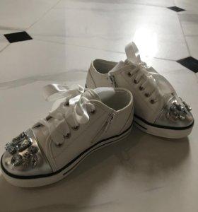 Кеды-туфельки для девочки