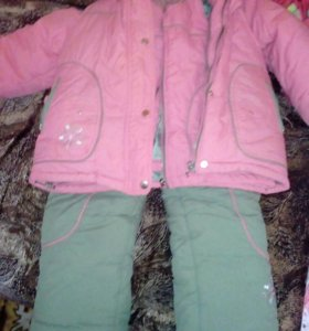 Зимний костюм теплый на 4-6лет