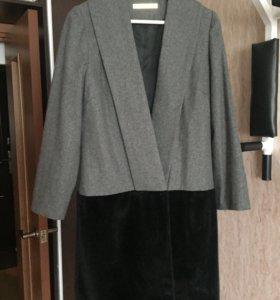 Пальто длинное шерсть Victoria Beckham