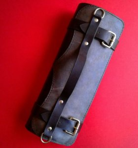 Скрутка для ножей из натуральной кожи