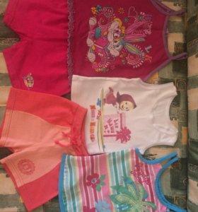 Детские летние вещи пакетом на 1,5-2 года