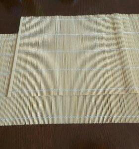 Деревянные салфетки на стол натуральные