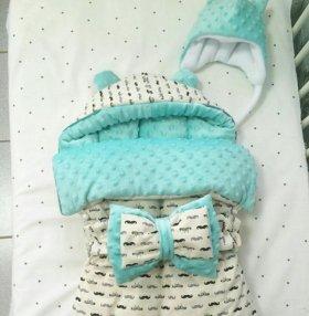 Конверт зимний для новорожденного