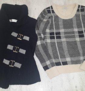 Жилет и свитер