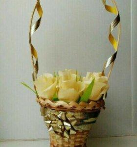 Цветы ,топиарии и корзинки