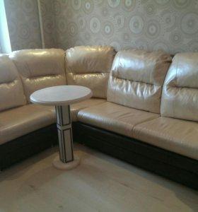 Угловой диван из люксовой экокожи