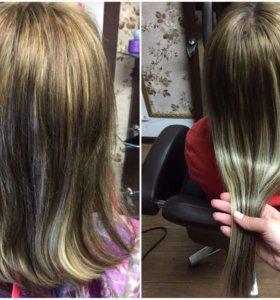 Волосы+наращивание