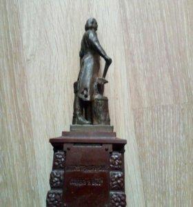 Бронзовая статуэтка Пётр 1 1962 года