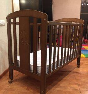Кроватка Micuna Nicole шоколад