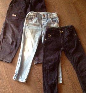 Джинсы и вельветовые штанишки