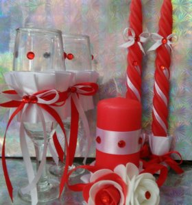 Свадебные фужеры,свечи