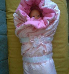 """Конверт """"одеяло"""" на выписку"""