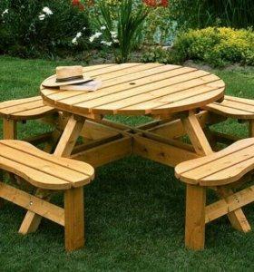 Услуги по изготовлению мебели для сада и двора.