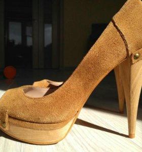 Zara замшевые туфли