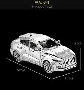 Сборная металлическая 3D модель-Внедорожник