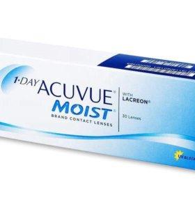Контактные линзы ACUVUE MOIST WITH LACREON