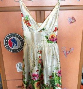 Платье + шарфик новое