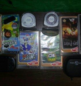PSP E10000, 11игр, чехол и камера