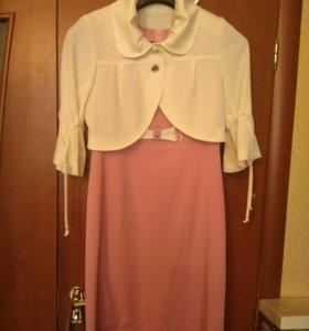 Новое платье с балеро новое на 48 размер