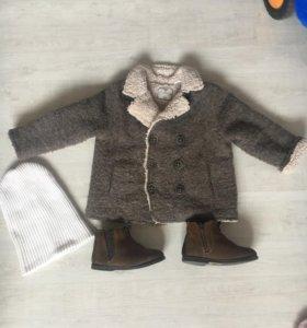 Пальто и ботинки Zara