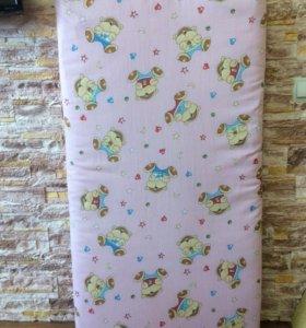 Кокосовый детский матрас в кроватку