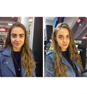 Брови ( оформление и окрашивание) 🌸 макияж 👸🏼