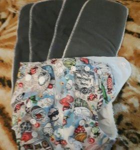 Многоразовый памперс и 4 вкладыша