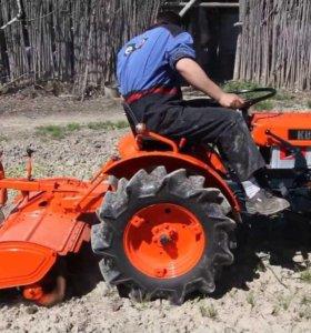 Вспашу поле, огород мини трактором