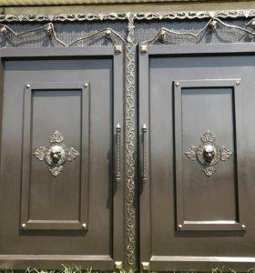 Железные ворота на заказ напротив металобазы Селим