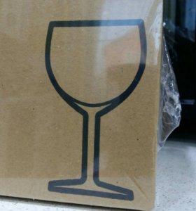 Бокалы для вина. В упаковке 6 штук. Новые .