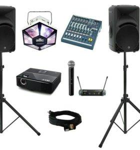 Аренда музыкального оборудования и DJ.