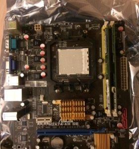 Материнская плата ASUS +процессор+4 ГБ ОЗУ