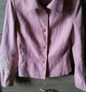 Пиджак—куртка розовый